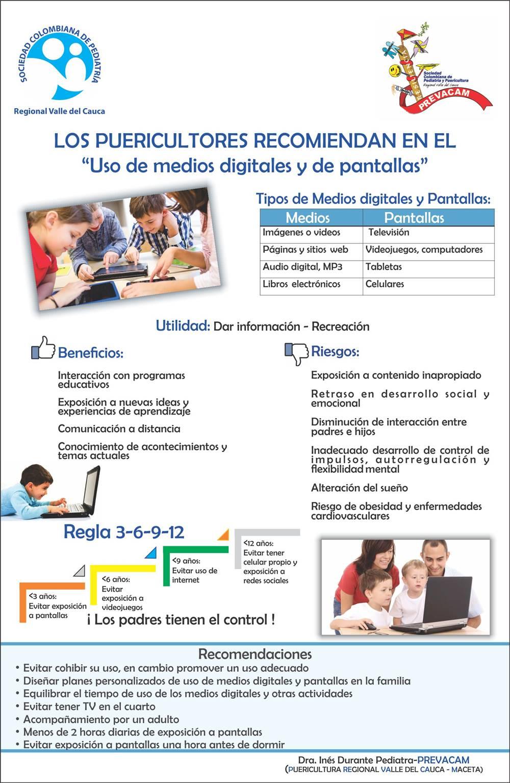 Uso de medios digitales y pantallas por los niños